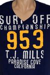 "ALCOTT V-Neck Surfer T-Shirt ""T.J. Mills California"" in 2 Farben! Bild 3"