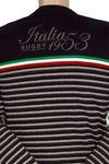 """ALCOTT Rugby V-Pullover """"Italia 1953"""" in dunkelblau 004"""