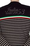 "ALCOTT Rugby V-Pullover ""Italia 1953"" in dunkelblau Bild 4"