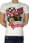 "Flying Suplex Vintage Print Retro T-Shirt ""Rockwells"" in 2 Farben!"