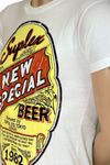 "Flying Suplex Vintage Print Retro T-Shirt ""Special Beer"" 003"