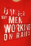 "Blend of America Reg-Fit O-Neck T-Shirt ""Men working on rails"" Bild 6"