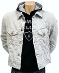 Yashi Yamamuri Jeans Jacke - Kurz Ubergangs Stretch Jacke - Made in Italy 001
