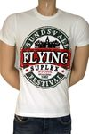 "Flying Suplex Vintage Retro T-Shirt ""Sundsvall Festival"", weiss"