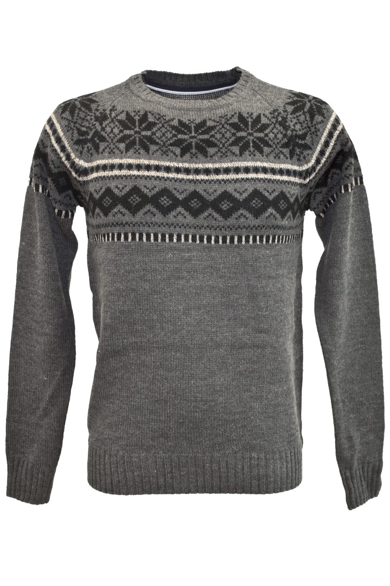 indicode winter pullover in grau men pullover sweater. Black Bedroom Furniture Sets. Home Design Ideas