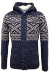 edc by ESPRIT Herren Knitwear Grob-Strick-Jacke in navy