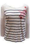 edc by ESPRIT Damen Longsleeve T-Shirt mit Print