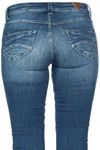 M.O.D Damen Jeans Scarlett Slim in Cuneo Blue Destroyed Bild 2