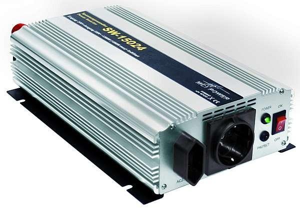 Spannungswandler McPower SW-15024 24V= -> 230V, 1200 Watt