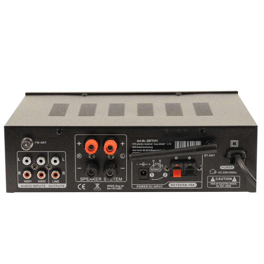 PA Anlage mit Bluetooth USB MP3 Receiver und 800 Watt Boxen – Bild 6