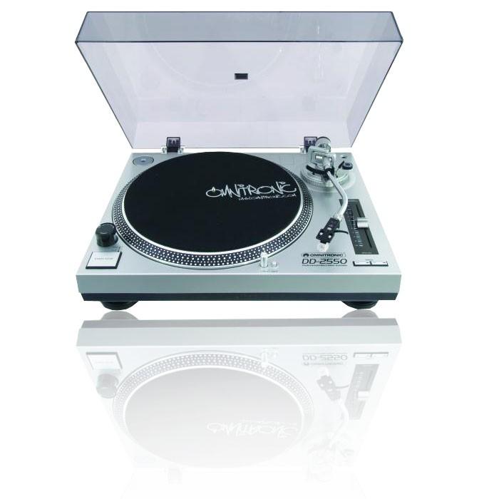 Plattenspieler Schallplattenspieler Turntable silber OMNITRONIC DD-2550 – Bild 1