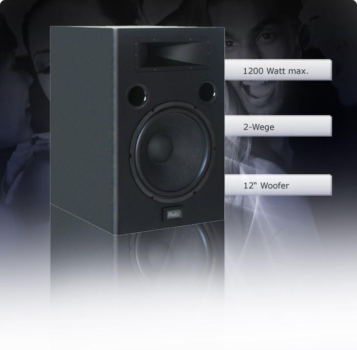 Haut-parleur 1200 watts baffles 2 voies enceinte musique son équipement Woofer