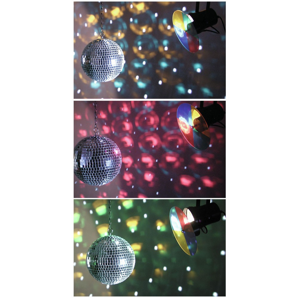 High quality mirror ball with color changer – Bild 4