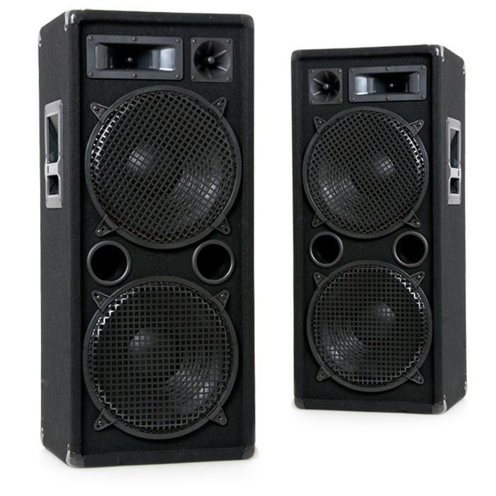2000W PAAR PA Boxen 2 x 30 cm Bass Lautsprecher DJ-Pro 212