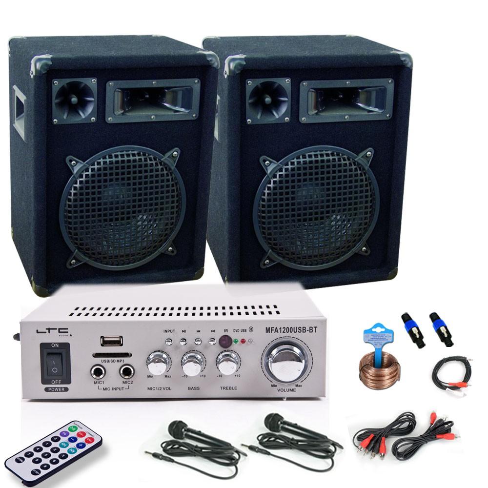 Kompakte Bluetooth Karaokeanlage mit zwei Mikrofonen DJ-67