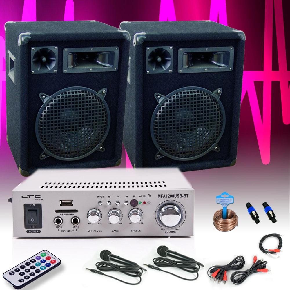 Compact karaoke system with 2 microphones – Bild 2