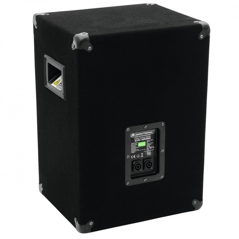 600 Watt 3-way PA single speaker loudspeaker DJ OMNITRONIC DX-1222 - ONLY 1 SPEAKER – Bild 3
