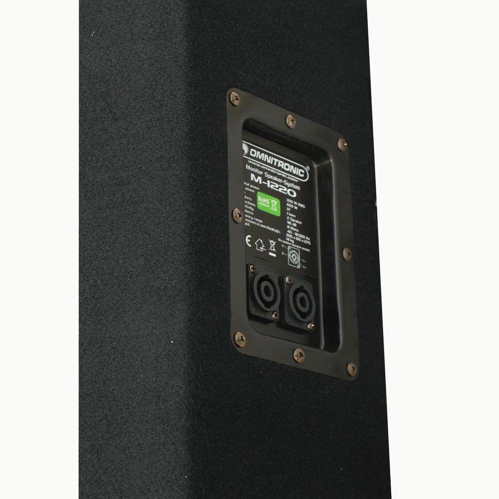 600 Watt DJ PA Lautsprecher 2-Wege OMNITRONIC M-1220 – Bild 2