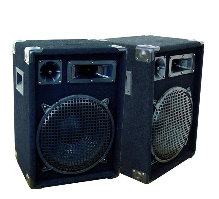 Deux haut-parleurs noir OMNITRONIC DX-1222 avec 2x 600 Watts – Bild 1