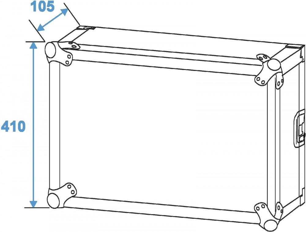 Effekt Rack Gerätehalterung Effektrack Verstärkerrack PR ET-2 8U 30109788 Economy – Bild 6