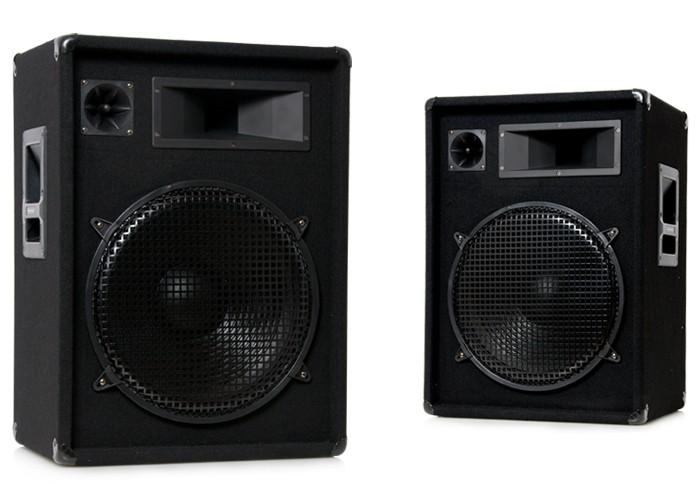 Pair des baffles 3 voie 1600 W PA DJ basse 15 pouces 35 cm Omnitronic DX-1522 – Bild 1