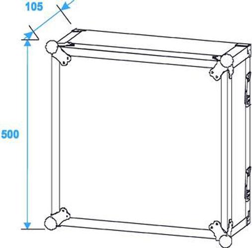 Effect Effect-amplifier rack mount equipment rack PR-2 10U Economy 30109790 – Bild 5
