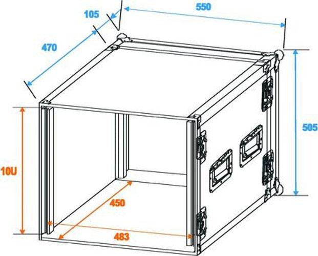 Effect Effect-amplifier rack mount equipment rack PR-2 10U Economy 30109790 – Bild 6