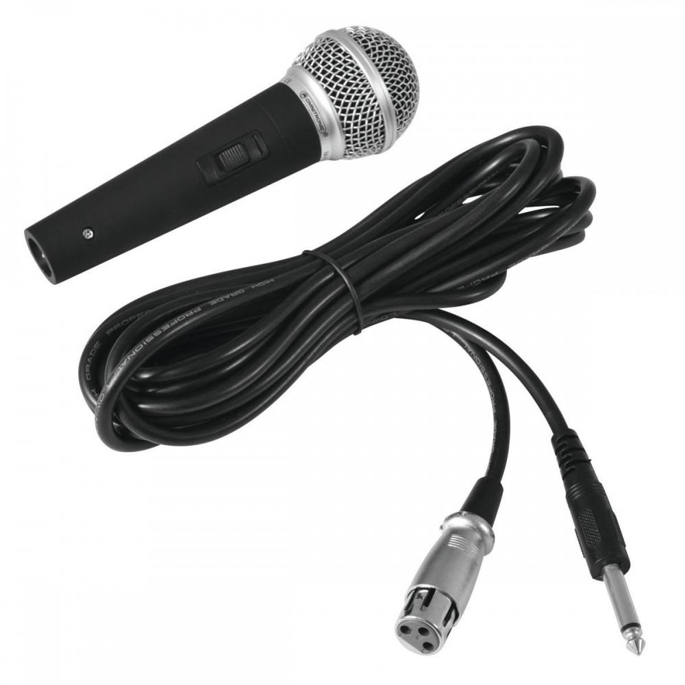Micro dynamique d'Omnitronic M-60 noir avec un câble TRS XLR – Bild 1