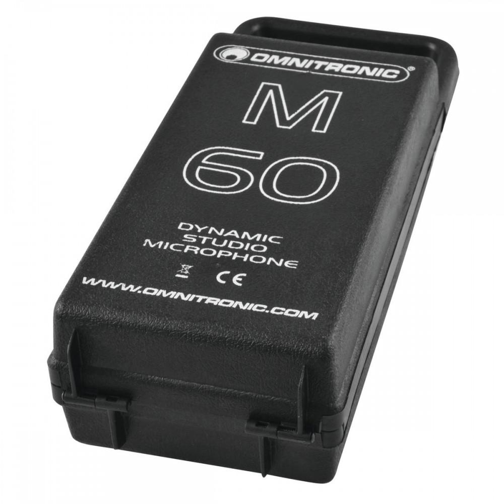 Micro dynamique d'Omnitronic M-60 noir avec un câble TRS XLR – Bild 3