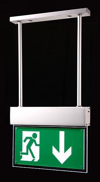 Lampe issue de secours DEL FL-25W fixation suspension FL-25W 235114 – Bild 2