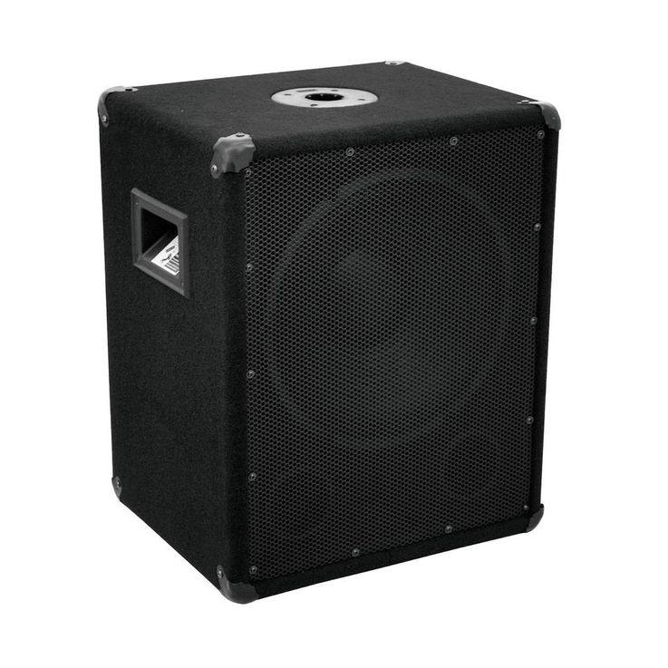 600 Watt Subwoofer Woofer OMNITRONIC BX-1250 – Bild 1