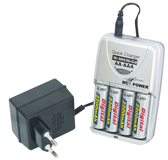 Chargeur d'accu V-220 turbo inclu accus 4x 2200 mAh