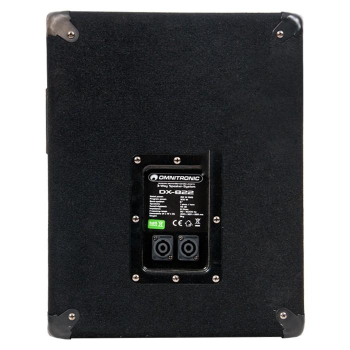 Deux baffles 600 watts 3 voies PA haut-parleurs musique DJ Omnitronic DX-822  – Bild 3