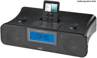 AEG iPod Soundmachine mit UKW/MW-Radio Wecker Uhrenradio AUX-IN LCD-Display SRC 4321 – Bild 1