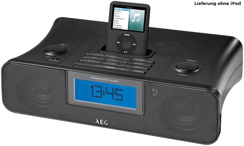 AEG iPod Station mit Ladefunktion und Radiowecker SRC 4321