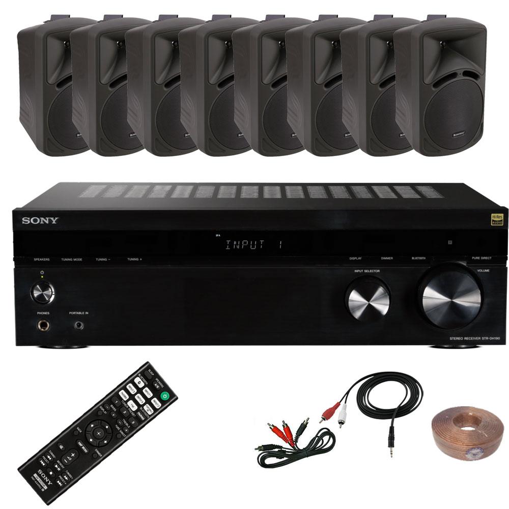 Gastro PA Anlage mit acht Boxen und Sony Verstärker Gastro 2