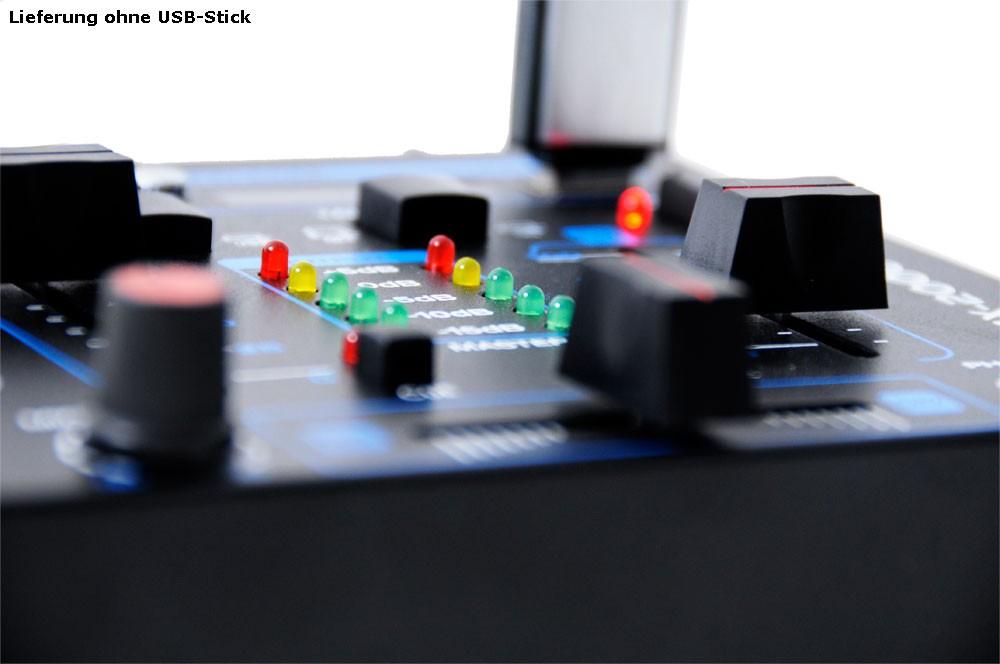 DJ Set mit Endstufe Boxen Mixer und Mikrofon DJ-170 – Bild 9