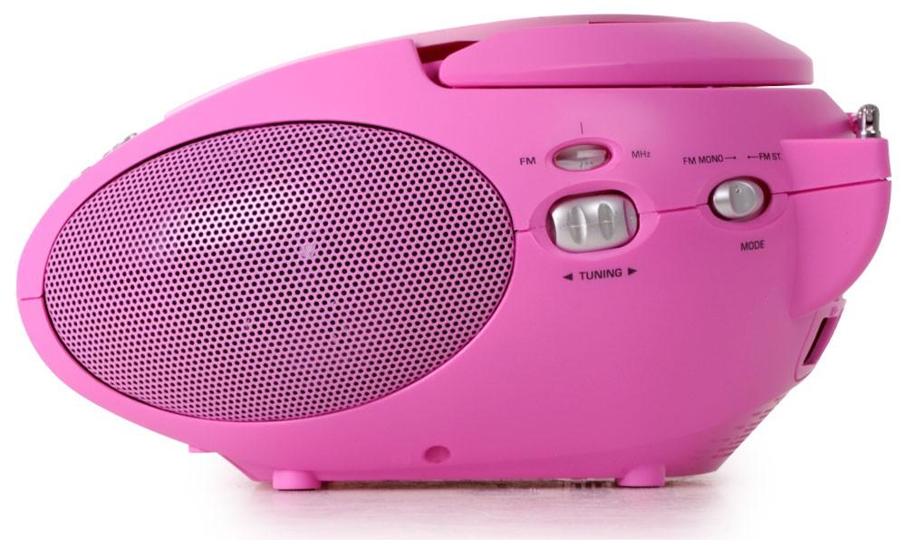 Tragbare Stereoanlage mit CD und Radiorecorder in pink – Bild 3
