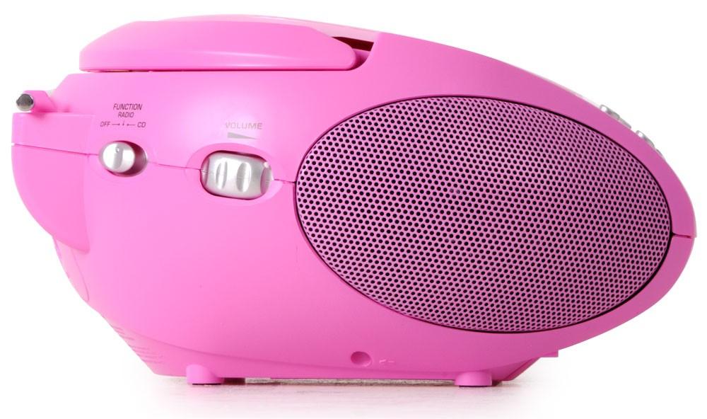 Tragbare Stereoanlage mit CD und Radiorecorder in pink – Bild 4