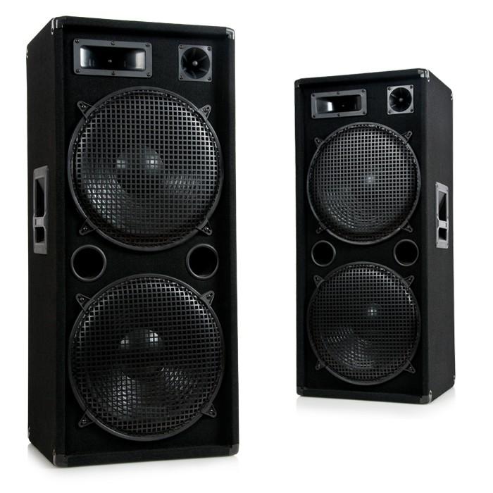 3000W PAIR DJ PA disco party 3 way loudspeaker boxes Pro 1500 – Bild 1