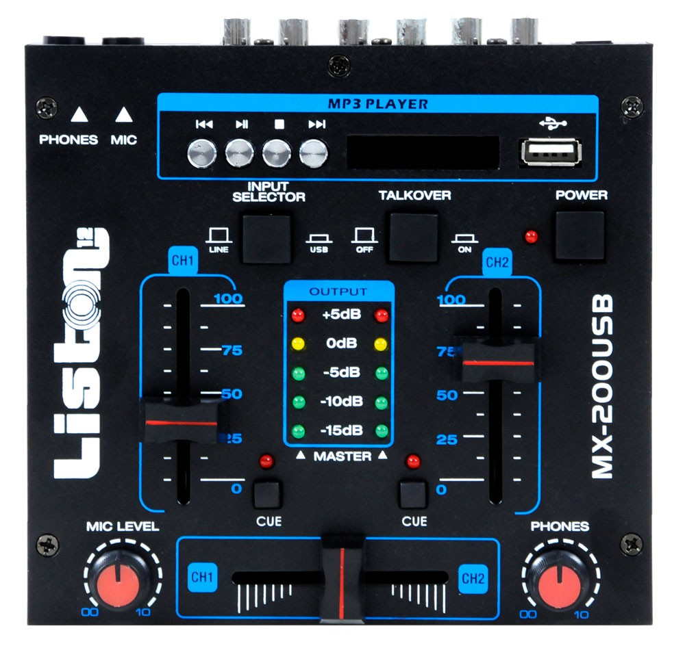 3000W DJ system with boxes USB mixer and amplifier – Bild 8