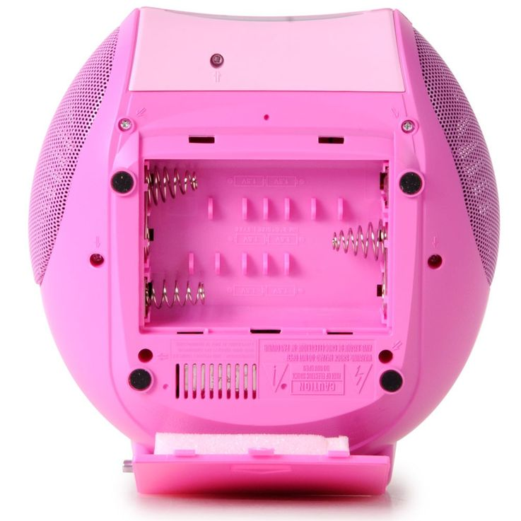 Stereoanlage mit MP3 CD Player MP3 Musikanlage Radio Radiorecorder Lenco SCD-24 MP3 pink – Bild 5