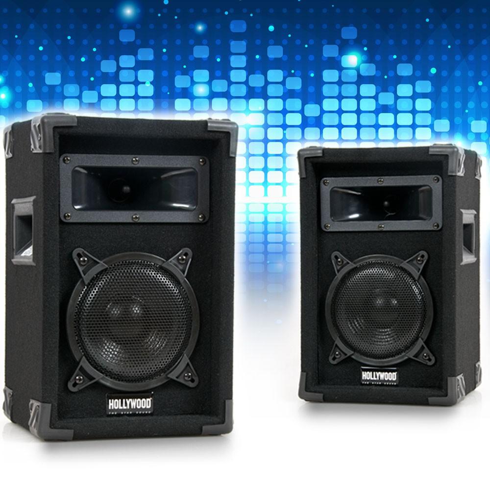 design 500w paar lautsprecher set dj pa boxen speaker. Black Bedroom Furniture Sets. Home Design Ideas