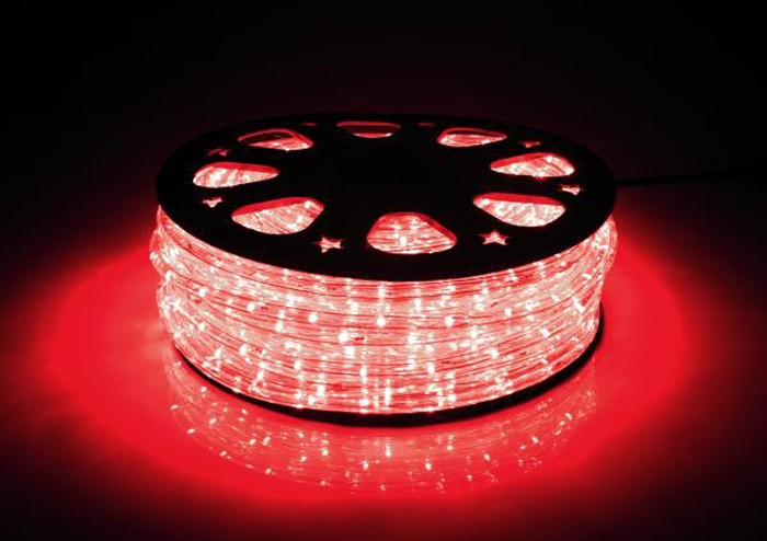 LED-Lichtschlauch 44m lang mit 1056 LEDs in rot – Bild 1