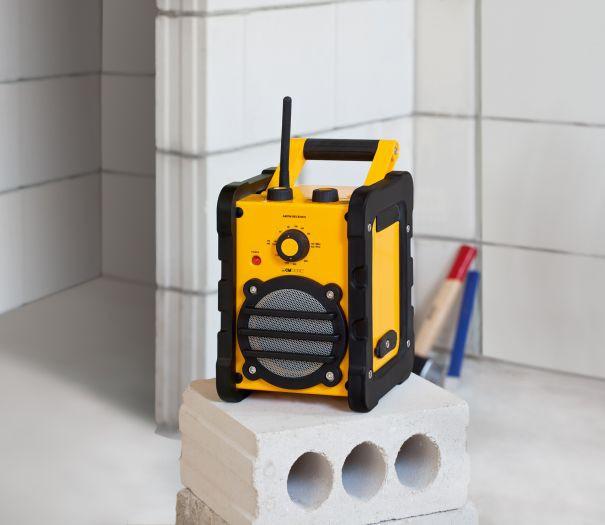 Baustellenradio mit MP3, Line IN und Tragegriff – Bild 2