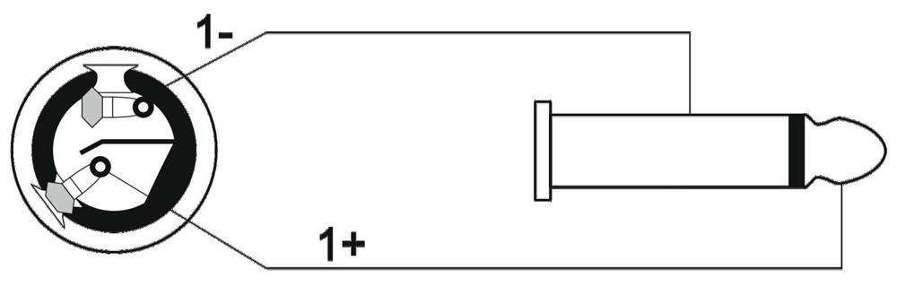 PA-Verbindungskabel 3m PA Stecker - Klinkenstecker – Bild 3