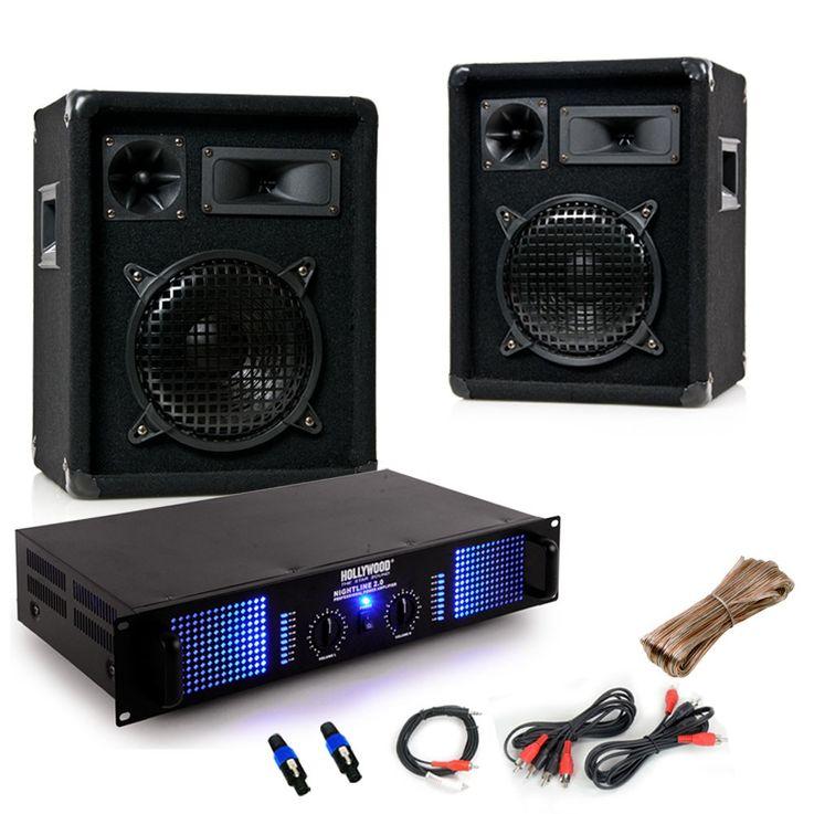 2400 watts démarreur sonorisation stéréo éclairage d'amplificateur de boîtes Omnitronic noir DJ-549 – Bild 1