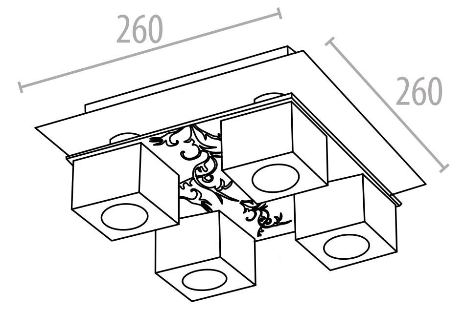 Deckenleuchte aus Kristallglas und Chrom mit 42 W – Bild 6