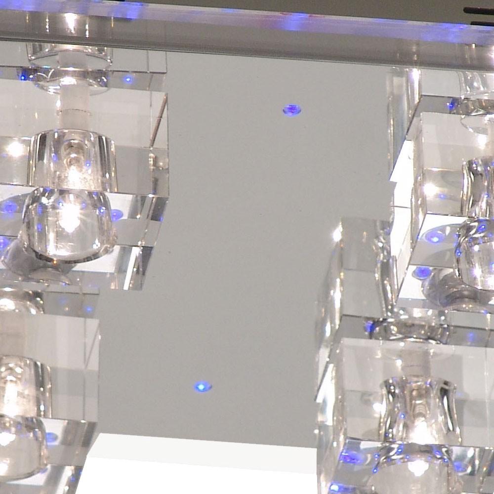 Deckenlampe mit blauem LED Effekt und Halogen-Leuchten – Bild 4