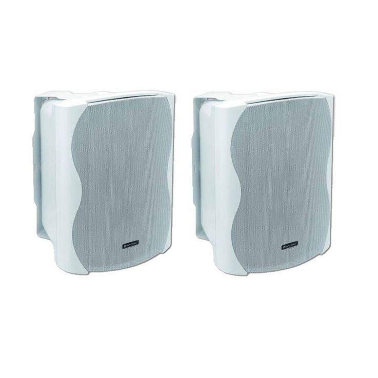 2x Lautsprecher Boxen OMNITRONIC in weiß C-80 – Bild 1